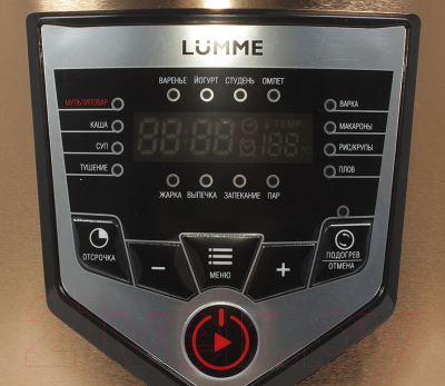 Мультиварка Lumme LU-1446 Chef Pro (черный/золото) - панель