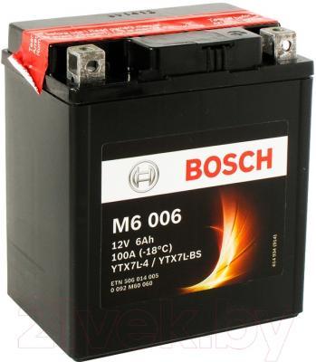 Мотоаккумулятор Bosch M6 YTX7L-4/YTX7L-BS 006 506014005 (6 А/ч)