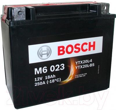 Мотоаккумулятор Bosch M6 YTX20L-4/YTX20L-BS 518901026 (18 А/ч)