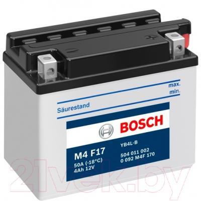 Мотоаккумулятор Bosch M4 YB4L-B 504011002 (4 А/ч)