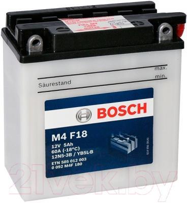 Мотоаккумулятор Bosch M4 12N5-3B/YB5L-B 505012003 (5 А/ч)