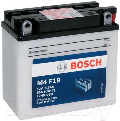 Мотоаккумулятор Bosch M4 12N5.5-3B 506011004 (5.5 А/ч)