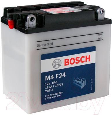 Мотоаккумулятор Bosch M4 YB7-A 508013008 (8 А/ч)