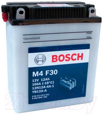 Мотоаккумулятор Bosch M4 12N12A-4A-1/YB12A-A 512011012  (12 А/ч)