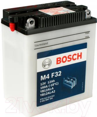 Мотоаккумулятор Bosch M4 YB12AL-A/YB12AL-A2 512013012 (12 А/ч)