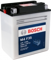 Мотоаккумулятор Bosch M4 YB14-A2 514012014 (14 А/ч) -