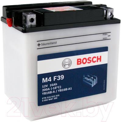 Мотоаккумулятор Bosch M4 YB16B-A/YB16B-A1 516015016 (16 А/ч)