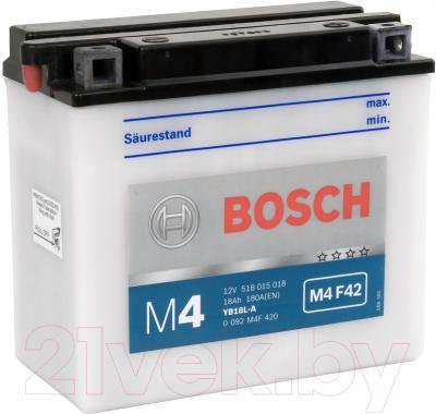 Мотоаккумулятор Bosch M4 YB18L-A 518015018 (18 А/ч)