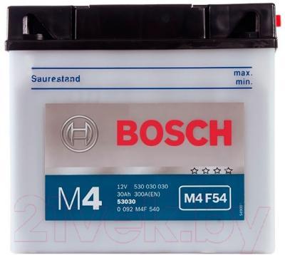 Мотоаккумулятор Bosch M4 53030 530030030 (30 А/ч)