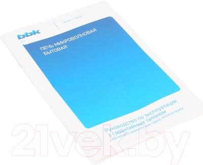 Микроволновая печь BBK 20MWS-711M/WS - Инструкция
