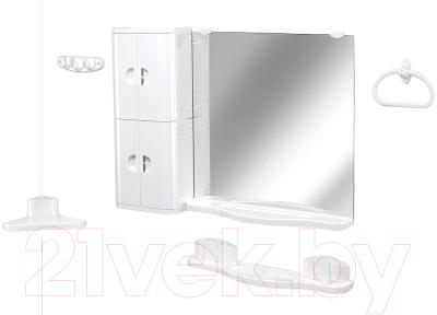 Комплект мебели для ванной Белпласт Элегант c502-2830 (белый)