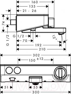Смеситель Hansgrohe ShowerTablet Select 300 13151000 - схема