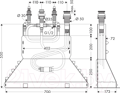 Встроенный механизм смесителя Hansgrohe 13444180