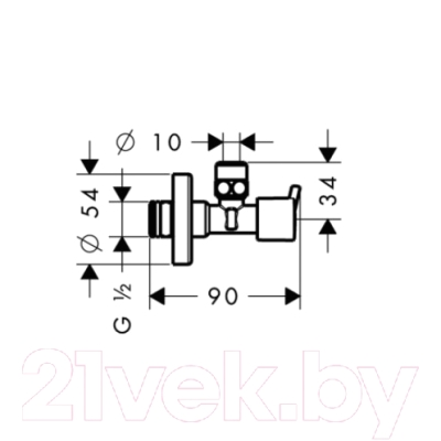 Вентиль угловой Hansgrohe Angle Valve S 13901000