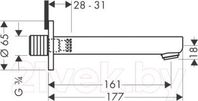 Излив Hansgrohe Metropol S 14420000 - схема