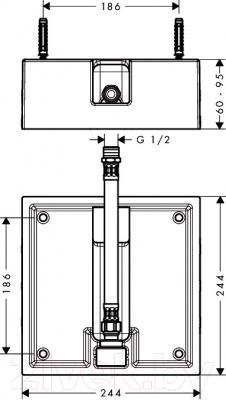 Комплектующее для сантехники Hansgrohe Raindance 26471180 - схема
