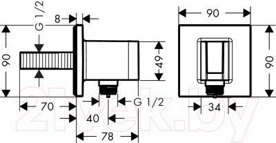 Подключение для душевого шланга Hansgrohe Fixfit 26486000