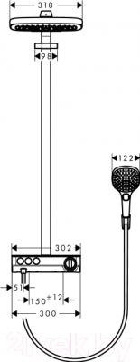 Душевая система Hansgrohe  Raindance Select 27127400