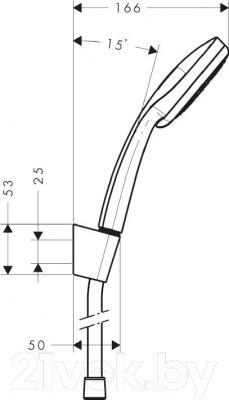 Душевой гарнитур Hansgrohe Verso 100 27274000 - схема