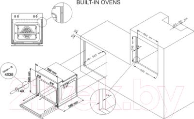 Электрический духовой шкаф Simfer B6EV18012
