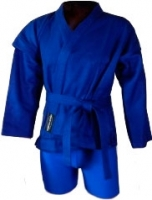 Кимоно для самбо NoBrand 3131 150 (синий) -