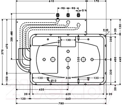 Встроенный механизм смесителя Hansgrohe Raindance Rainmaker 28414180