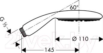 Душевой гарнитур Hansgrohe Raindance E100 AIR 1jet 28508000