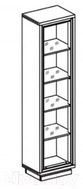Шкаф-пенал Black Red White Areka S131-REG1D (дуб венге/дуб венге Магия)