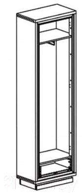 Шкаф-пенал Black Red White Areka S131-SZF1D1S (дуб венге/дуб венге Магия)