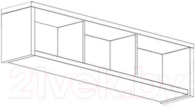 Шкаф навесной Black Red White Areka S131-SFW/146 (дуб венге)