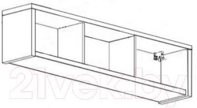 Шкаф навесной Black Red White Areka S131-SF1W/146 (дуб венге)