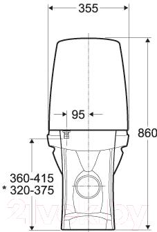 Унитаз напольный Ifo Sing D686200002 - схема