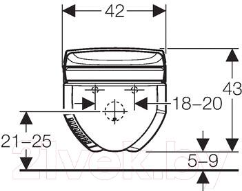 Унитаз с инсталляцией Geberit AquaClean 8000 - схема