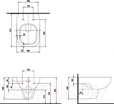 Унитаз подвесной Ifo Sjoss RP313100500 - схема