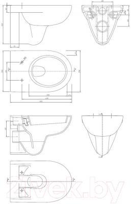 Унитаз подвесной Ifo Special RP731300100 - схема