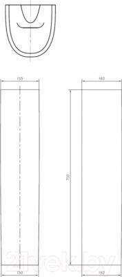 Пьедестал Ifo Arret RS032000000 - схема
