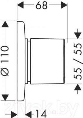 Кран для воды Hansgrohe Metris 31634000 - схема