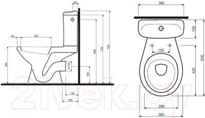 Унитаз напольный Ifo Hitta RS041309000
