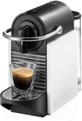 Капсульная кофеварка DeLonghi Pixie Clips White/Coral Neon EN 126