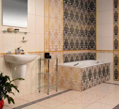 Бордюр для ванной Керамин Органза 4ШБ (400x132)