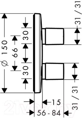 Вентиль Hansgrohe Metris iControl 31958000