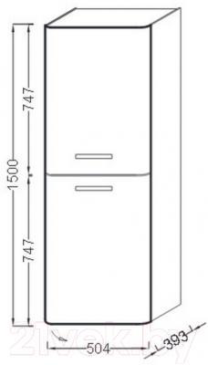 Шкаф-пенал для ванной Jacob Delafon Replay EB1074D-F83