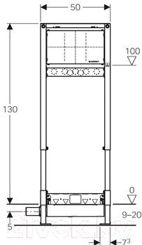 Инсталляция для унитаза Geberit Duofix 111.580.00.1 - схема