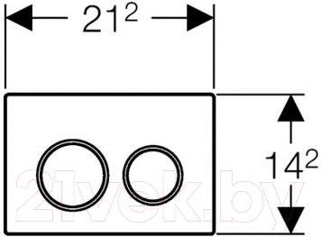 Кнопка для инсталляции Geberit Omega 20 (115.085.KJ.1) - схема
