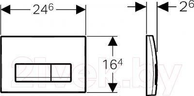 Кнопка для инсталляции Geberit Delta 51 (115.105.46.1) - схема