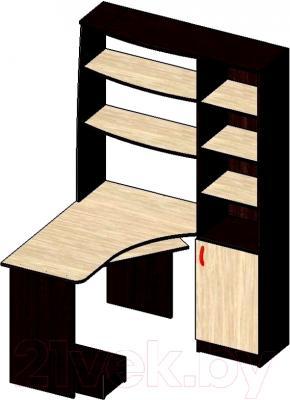Компьютерный стол Мебель-Класс Меридиан (венге/дуб молочный, правый)