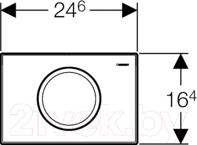 Кнопка для инсталляции Geberit Delta 11 (115.120.11.1) - схема