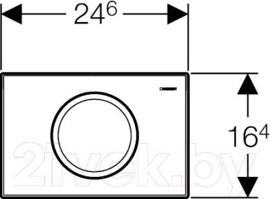 Кнопка для инсталляции Geberit Delta 11 (115.120.46.1) - схема