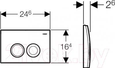 Кнопка для инсталляции Geberit Delta 21 115.125.21.1 - схема