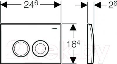 Кнопка для инсталляции Geberit Delta 21 (115.125.46.1) - схема